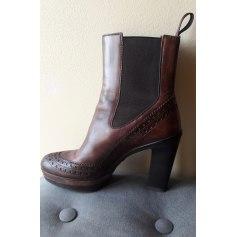 Bottines & low boots à talons SANTONI Marron