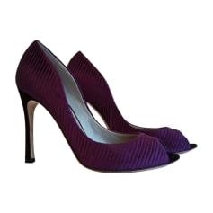 Peep-Toe Pumps SERGIO ROSSI Purple, mauve, lavender