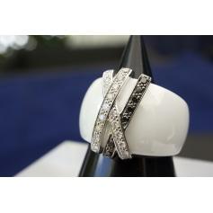 Bague GUY LAROCHE diamants blancs et noirs