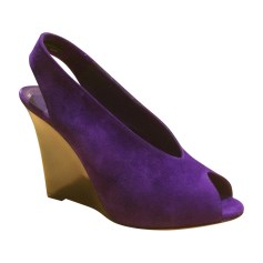 Wedges CÉLINE Purple, mauve, lavender