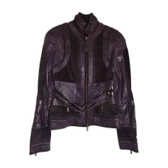 Leather Jacket JUST CAVALLI Purple, mauve, lavender