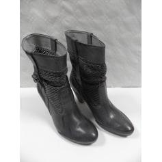 250bcfa1dc High Heel Ankle Boots VIRUS MODA Gray