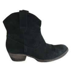 Santiags, bottines, low boots cowboy ANN TUIL Noir