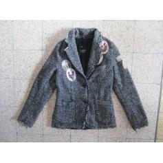 Coat LE TEMPS DES CERISES Gray, charcoal