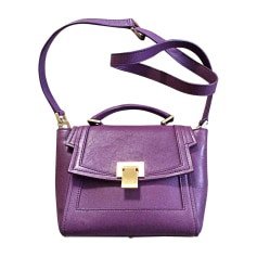 Leather Shoulder Bag ELIE SAAB Purple, mauve, lavender