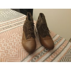 Bottines & low boots plates TOPSHOP Marron