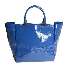 Sac XL en cuir LANVIN Bleu, bleu marine, bleu turquoise