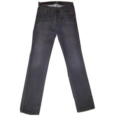 Pantalon slim, cigarette 7 FOR ALL MANKIND Gris, anthracite