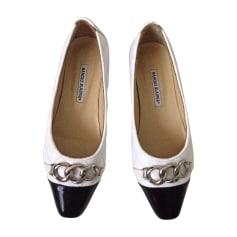 Ballet Flats MANOLO BLAHNIK White, off-white, ecru