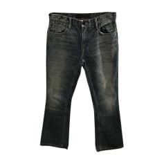 Pantalon évasé ALEXANDER WANG Bleu, bleu marine, bleu turquoise