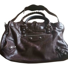 Leather Handbag BALENCIAGA Brown