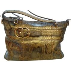 Leather Handbag GUCCI Golden, bronze, copper