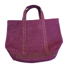 Leather Handbag VANESSA BRUNO Purple, mauve, lavender