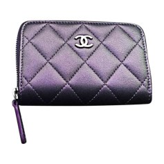 Leather Handbag CHANEL Purple, mauve, lavender
