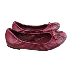 Ballet Flats LOUIS VUITTON Red, burgundy