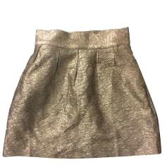 Mini Skirt PAUL & JOE SISTER Golden, bronze, copper