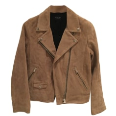 Giacca di pelle THE KOOPLES Beige, cammello