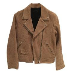 Leather Jacket THE KOOPLES Beige, camel