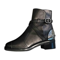 Biker Ankle Boots CHANEL Black