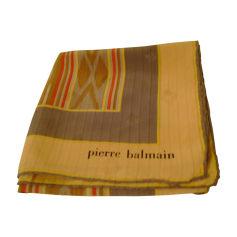 Silk Scarf PIERRE BALMAIN Yellow