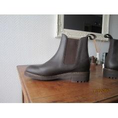 Bottines & low boots plates AIGLE Marron
