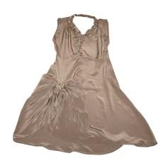 Robe mi-longue APRIL MAY Marron