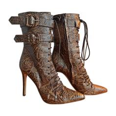Bottines & low boots à talons ROBERTO CAVALLI Marron