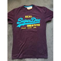 Tee-shirt SUPERDRY Rouge, bordeaux
