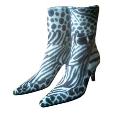 Bottines & low boots à talons FREE LANCE Noir et Blanc
