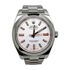 Armbanduhr ROLEX MILGAUSS Weiß, elfenbeinfarben