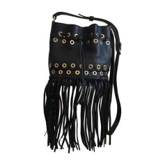Leather Shoulder Bag SONIA RYKIEL Black