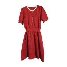 Mini Dress LOUIS VUITTON Red, burgundy