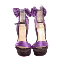 Heeled Sandals CHRISTIAN LOUBOUTIN Purple, mauve, lavender