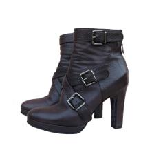 Bottines & low boots à talons  GAIA D'ESTE Prune foncée