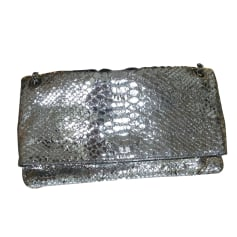 Leather Clutch ZADIG & VOLTAIRE Silver