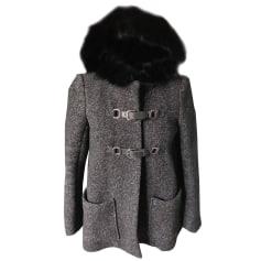 Pea Coat MAJE Black