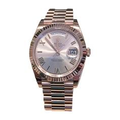 Wrist Watch ROLEX DAY-DATE Pink, fuchsia, light pink