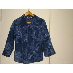 Veste en jean CHRISTINE LAURE Bleu, bleu marine, bleu turquoise