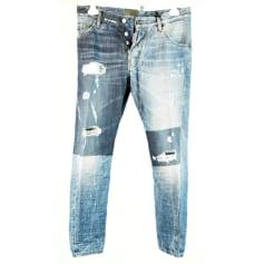 Jeans slim DSQUARED Bleu, bleu marine, bleu turquoise