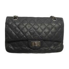 Leather Shoulder Bag CHANEL Gray, charcoal