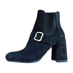 High Heel Ankle Boots PRADA Black