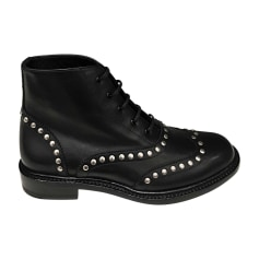 Bottines & low boots plates SAINT LAURENT Noir
