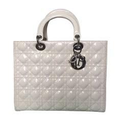 Leather Handbag DIOR LADY DIOR White, off-white, ecru