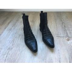 Santiags, bottines, low boots cowboy REGARD Noir