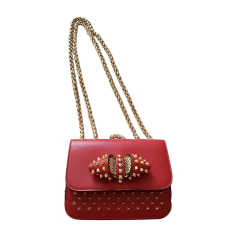 Borsa a tracolla in pelle CHRISTIAN LOUBOUTIN Rosso, bordeaux