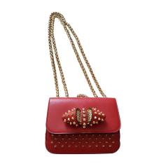 Leather Shoulder Bag CHRISTIAN LOUBOUTIN Red, burgundy