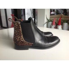 Bottines & low boots plates REGARD Noir