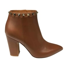 High Heel Ankle Boots VALENTINO Brown