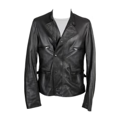 Leather Zipped Jacket DOLCE & GABBANA Black