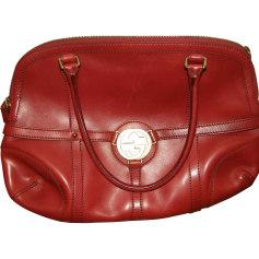 Leather Handbag GUCCI Red, burgundy